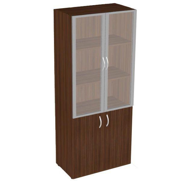 Шкаф книжный со стеклом высокий (без топа) фр-6.0+8.0+s60.0*.